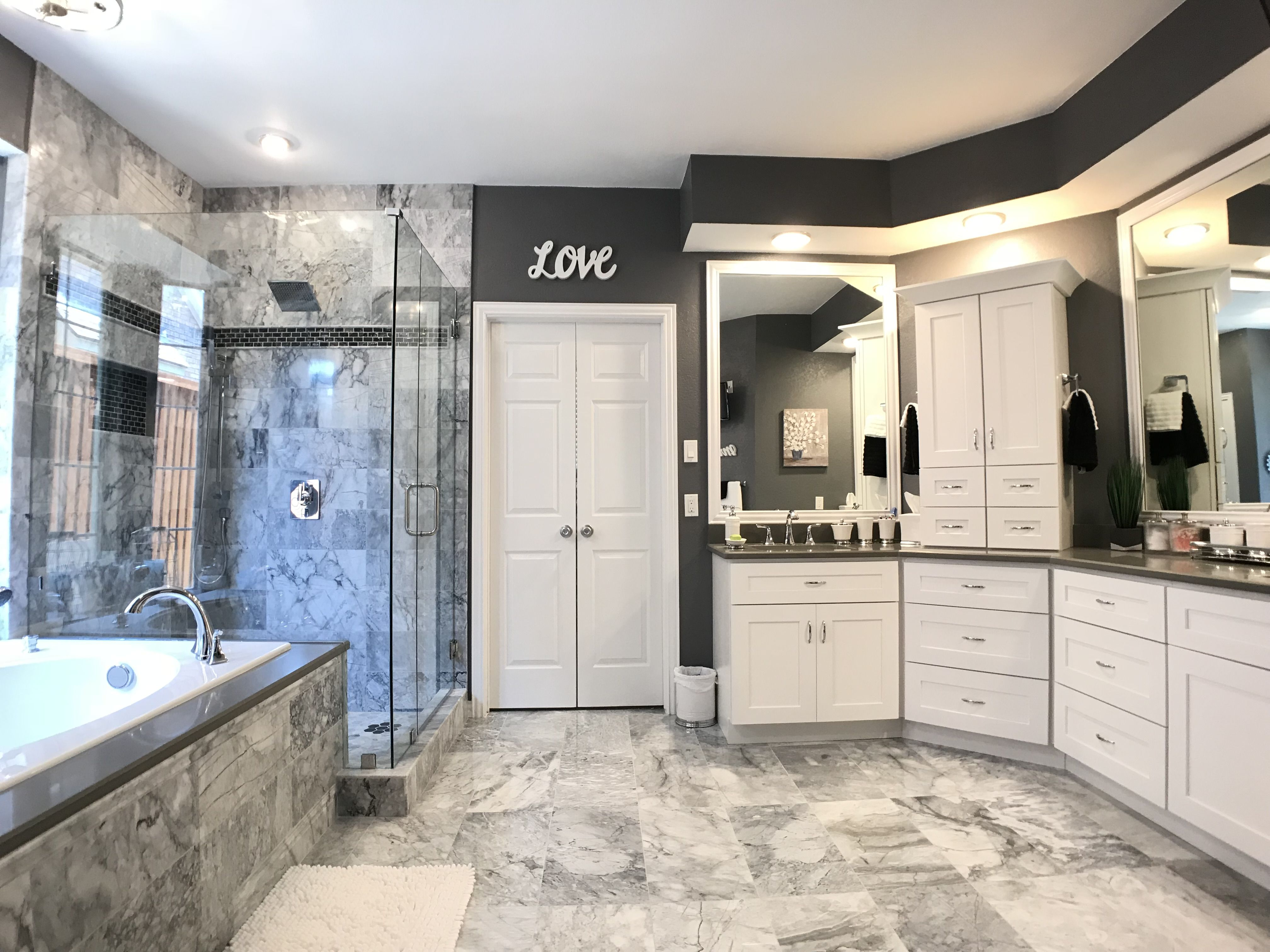 marble bathroom in Plano TX National Renovation ...