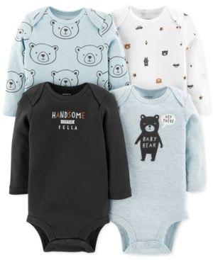 d2a8ac024 Carter s Baby Boys 4-Pack Bear-Print Bodysuits - Multi 12 months ...