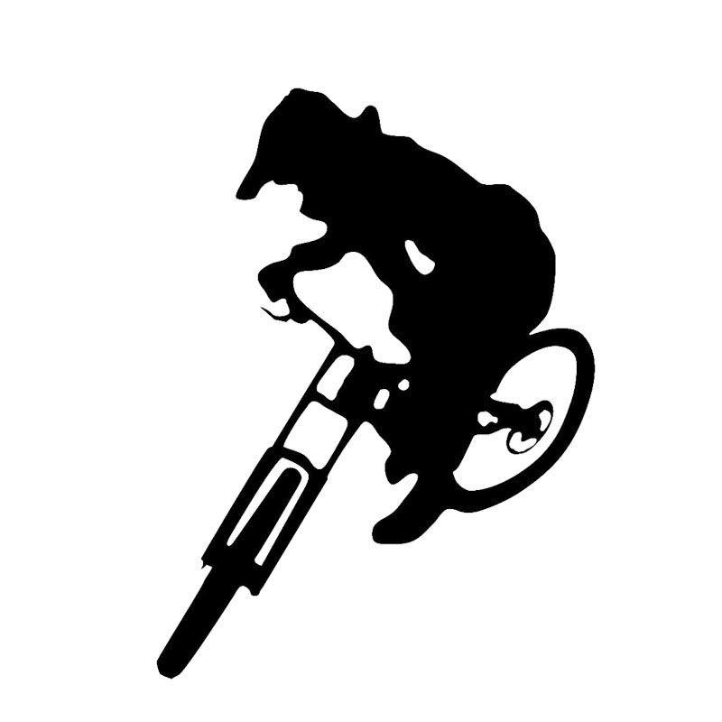 Car Sticker 15*20cm Downhill Trails Mountain Bike styling cartoon oem car  window car body