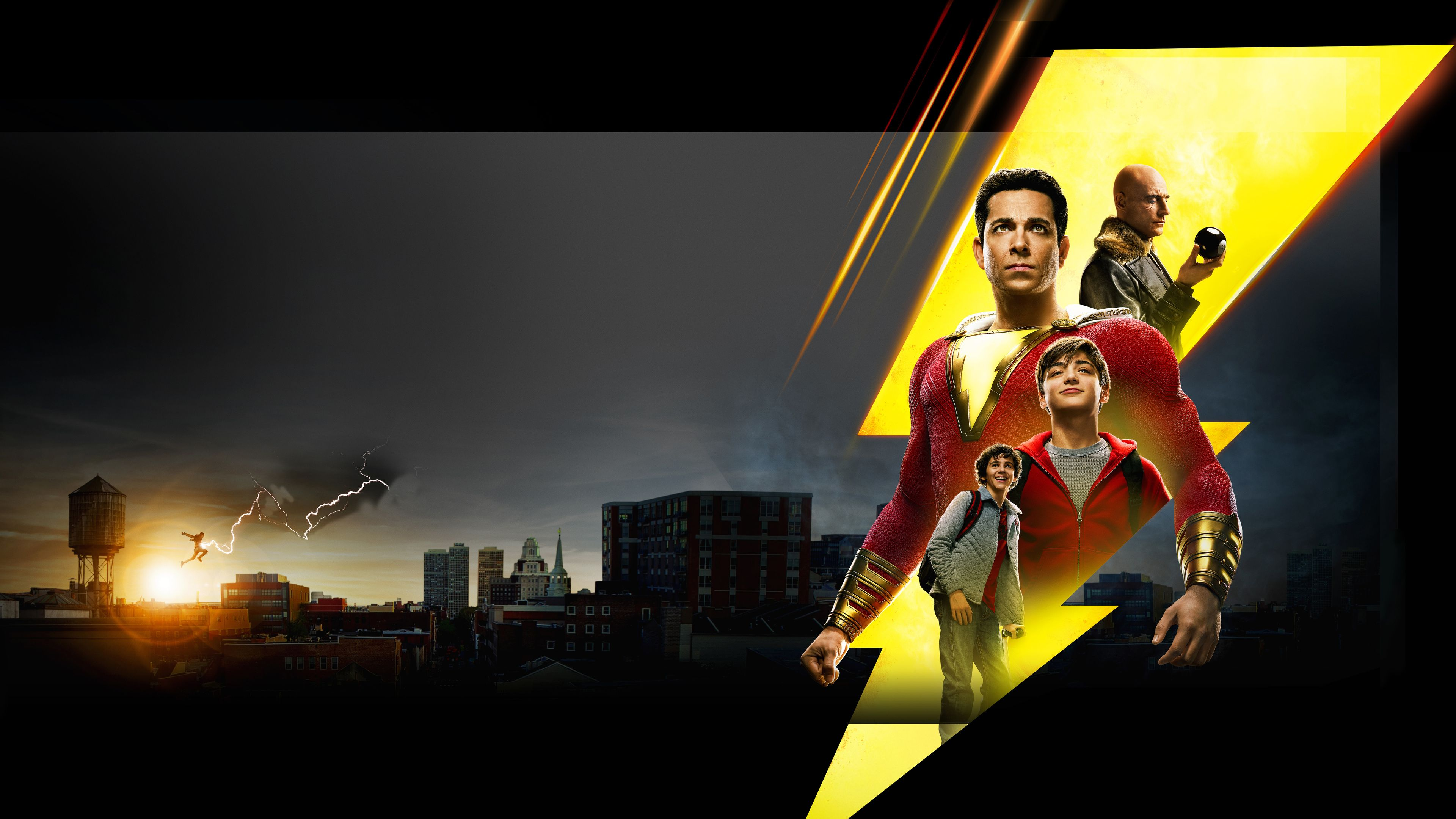 Wallpaper 4k Shazam New Poster 4k 2019 Movies Wallpapers 4k