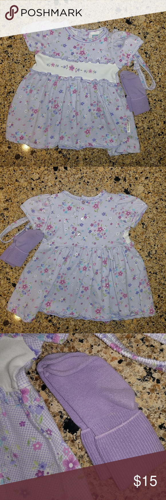 Little Me Baby Girl Dress Nwot Size 18 Months Little Me Baby Girl Spring Summer Dress With Matching Headband Baby Girl Dress Matching Headband Little My [ 1740 x 580 Pixel ]