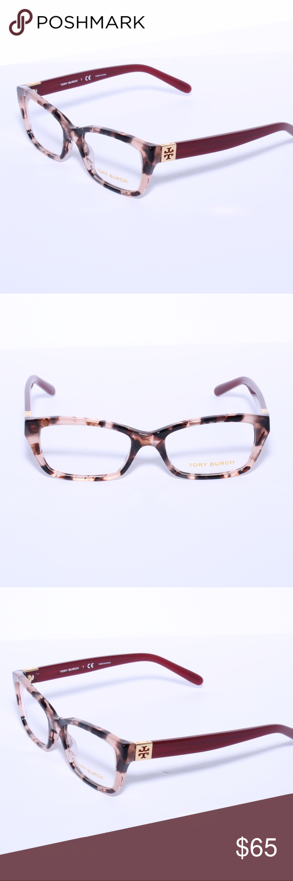 ee0f28e3cc3c Tory Burch TY 2049 Eyeglasses Tortoise MilkyCaber Brand new 100% authentic TORY  BURCH Eyeglasses TY2049 1363 Blush Tortoise Cabernet 51MM Comes with  Generic ...
