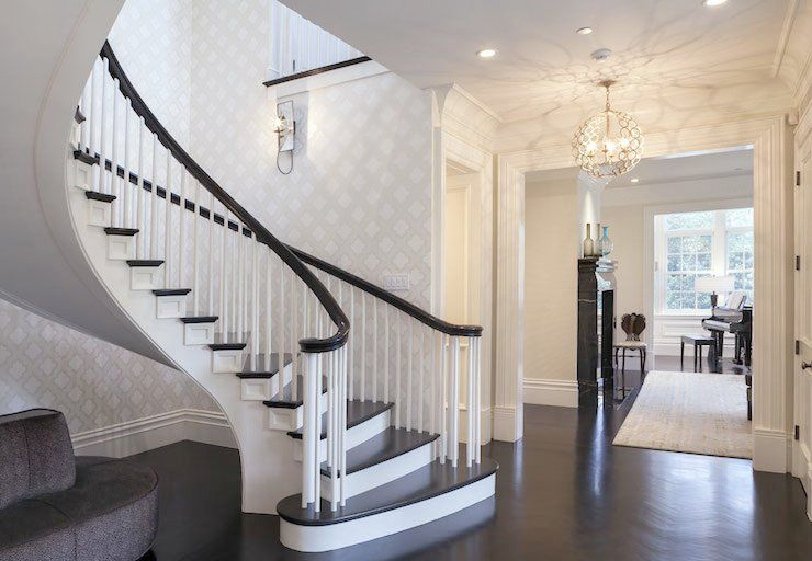 Nice Round Stair Spindles Spiral Staircase
