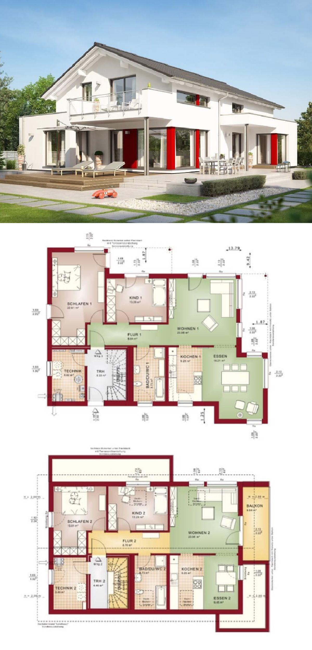 Einfamilienhaus mit Einliegerwohnung Haus Grundriss