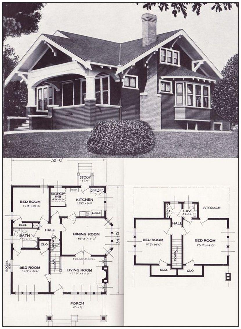 1920s Bungalow House Plans Craftsman House Plans Vintage House Plans Craftsman House