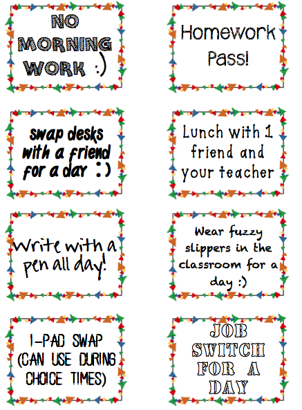 free printable student incentive coupons