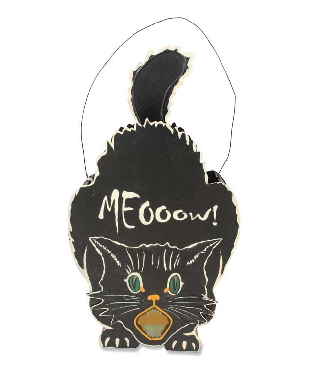 The Jolly Christmas Shop - Bethany Lowe Meoooow! Halloween Lantern - halloween decorations black cat
