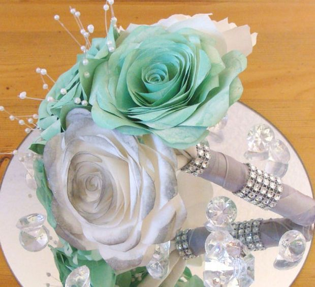 Bridal bouquet, wedding bouquet, Free shipping, Flower Girl Bouquet ...