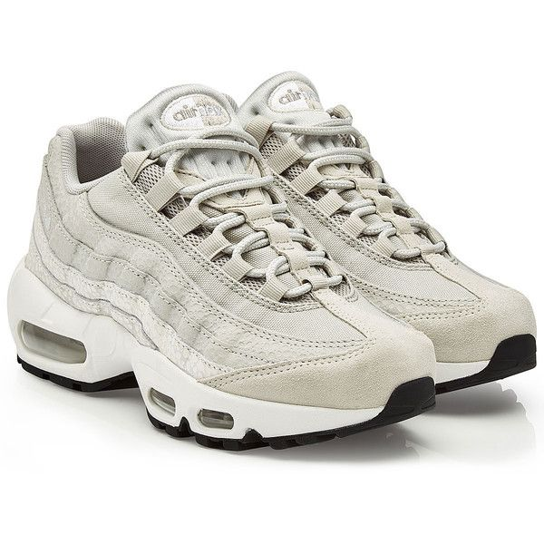 Nike Air Max 95 Premium Sneakers 225 Liked On Polyvore Featuring Shoes Sneakers Grey Gray Shoes Nike Sneak Nike Air Max Girly Sneakers Cushioned Shoes