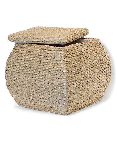 Love this Natural Square Storage Ottoman on #zulily! #zulilyfinds