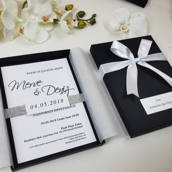 Unique Wedding Invitations In A Box: Black Box Wedding Invitation, Unique Wedding Invitations