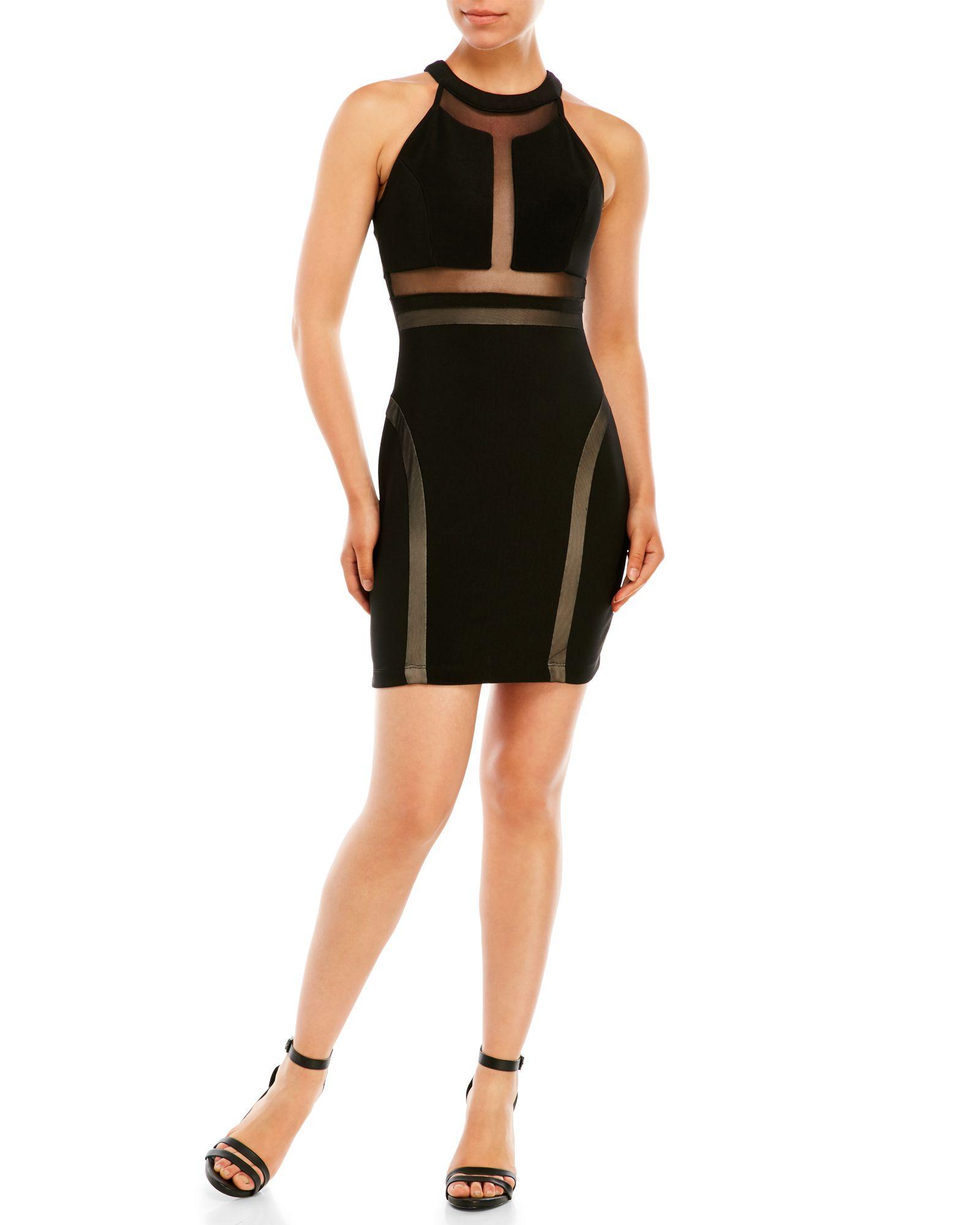 Emerald sundae sleeveless illusion bodycon dress apparel