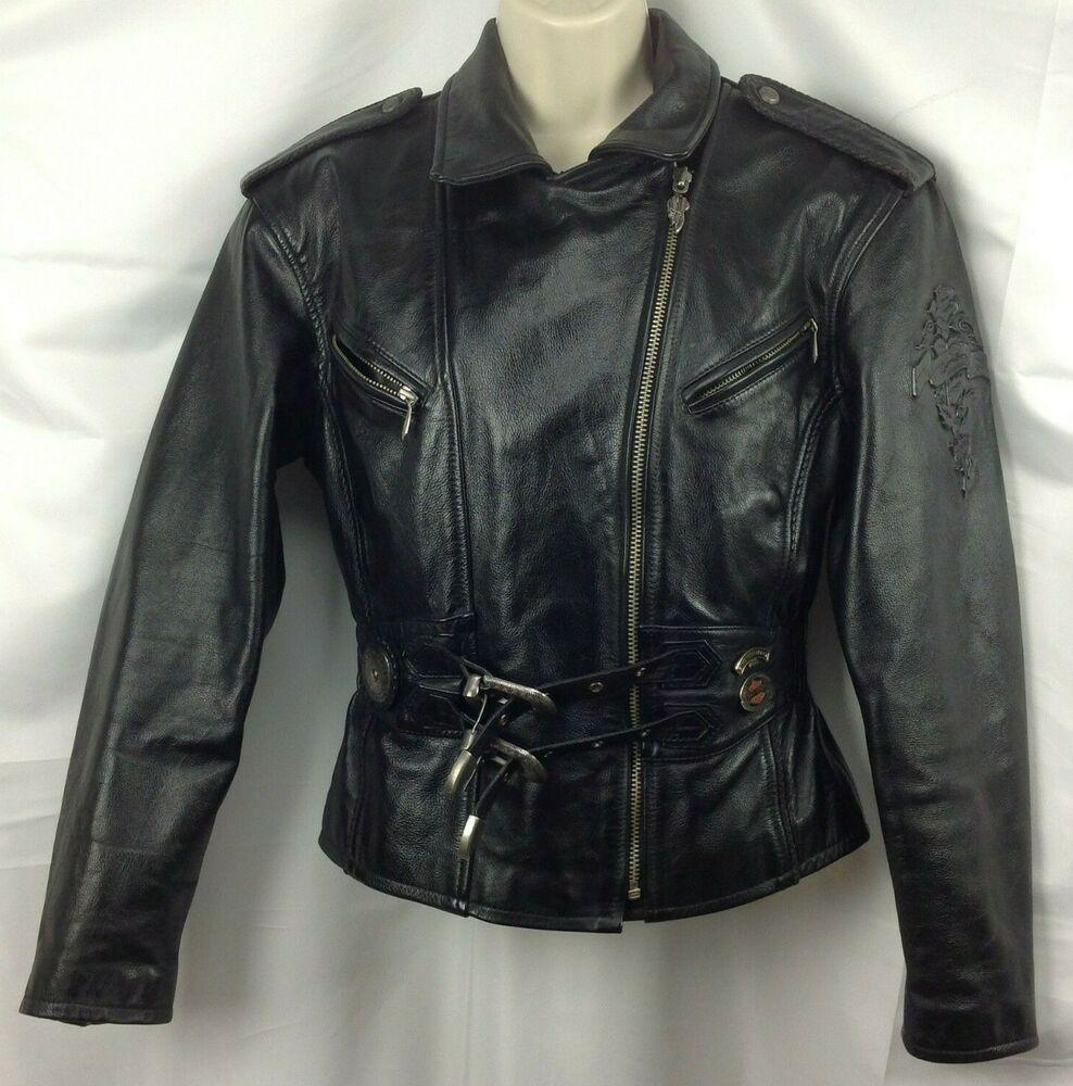 HARLEY DAVIDSON Women's S Vintage 90s Leather Jacket