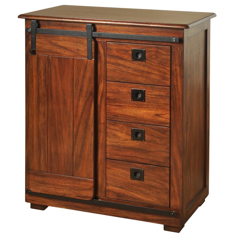 Best Stylecraft Rich Chestnut Brown Storage With Sliding Barn 400 x 300