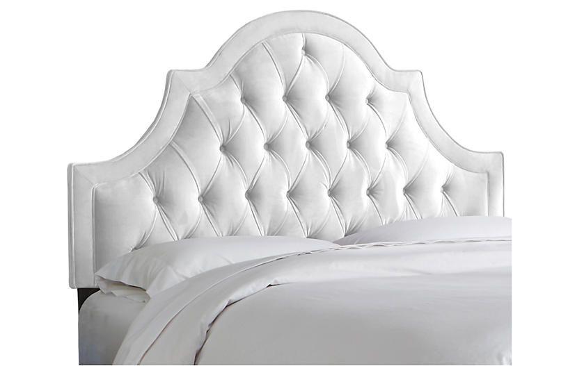 Harvey Headboard White Velvet Headboards For Beds Custom