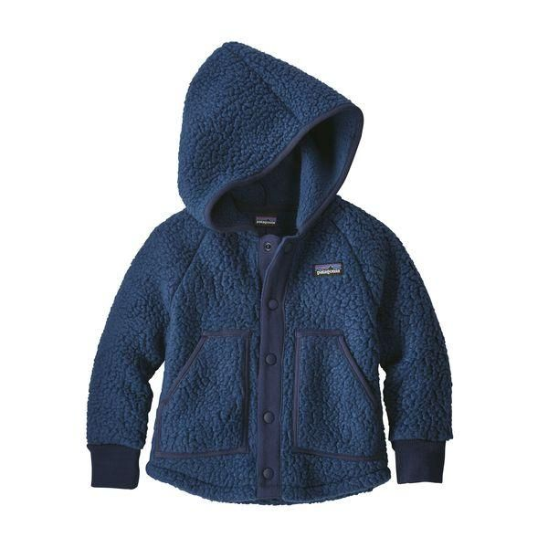 Baby Retro Pile Jacket In Stone Blue Jackets Toddler