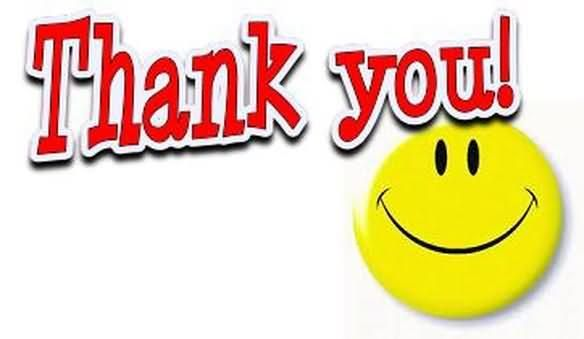 Thank you smiley. Animated graphic for share