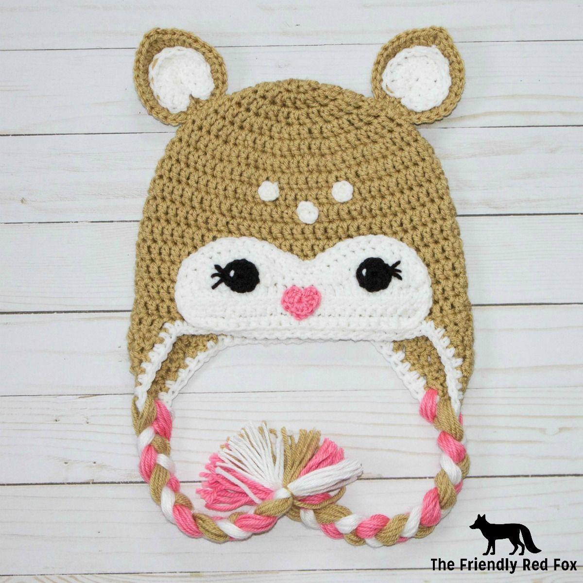 Free Crochet Little Deer Hat Pattern | Pinterest | Gorros, Muñecos ...
