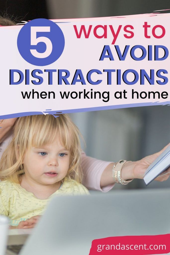 Looking for ways to avoid distractions when working from home? Here area 5 ways to make sure you stay same and productive while working from home with family around. #workfromhome #wahm #homebusiness #workingfromhome #entrepreneur