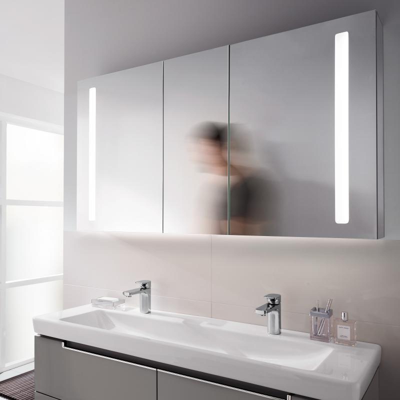 Villeroy boch my view 14 armoire glace avec clairage - Armoire a glace salle de bain ...