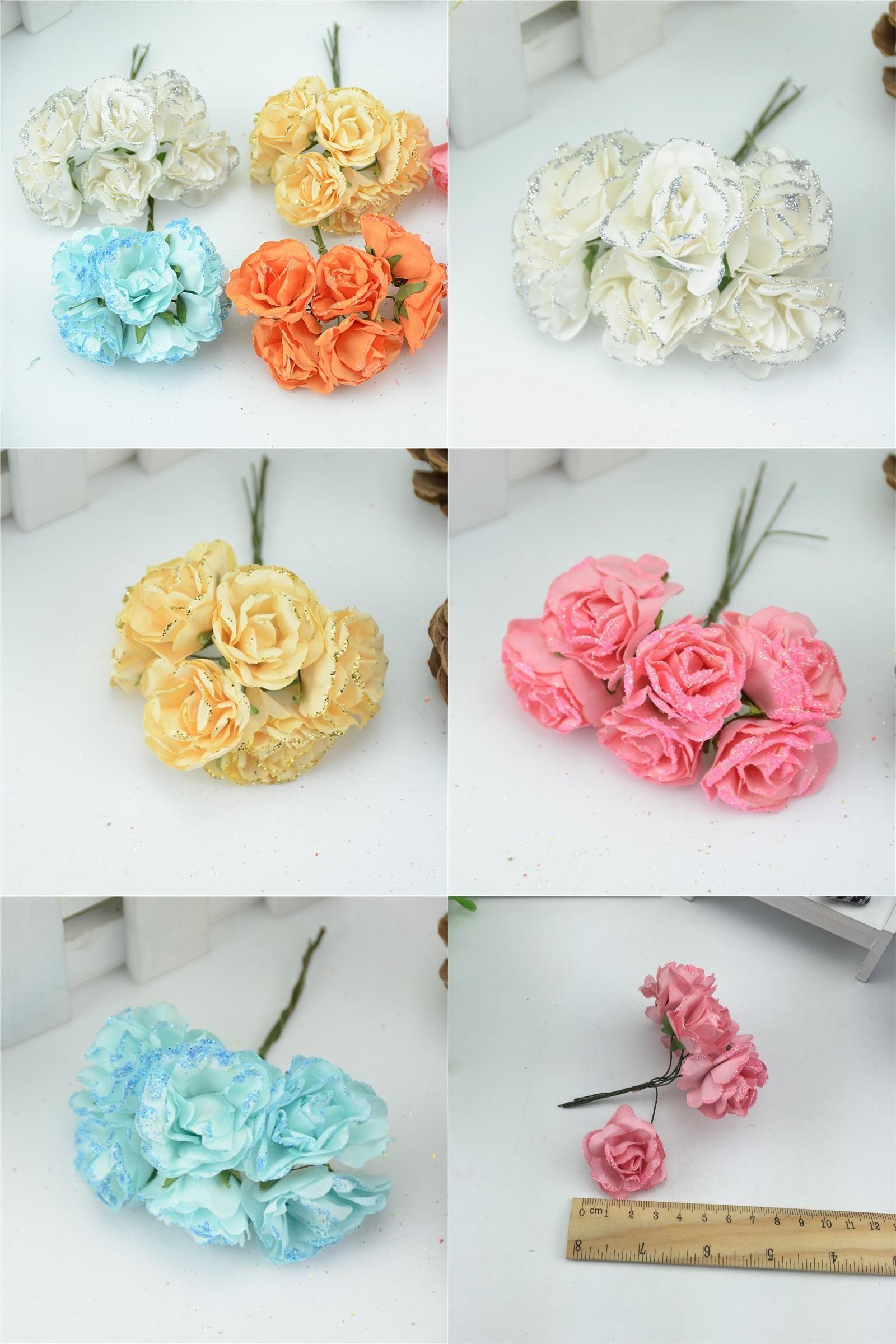 Visit To Buy 6pcslot 4cm Heads Peony Mini Paper Flowers Bouquet