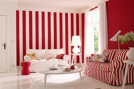 red and white living room | Red & White | Pinterest | Room, Living ...