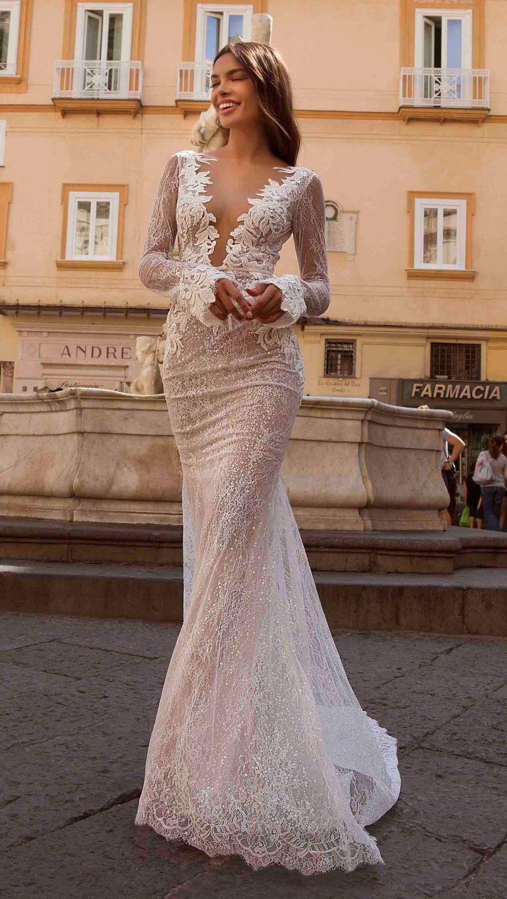 Berta Privee Wedding Dresses Dress For The Wedding Boho Wedding Dress Lace Wedding Dress Long Sleeve Backless Wedding Dress [ 1774 x 1000 Pixel ]