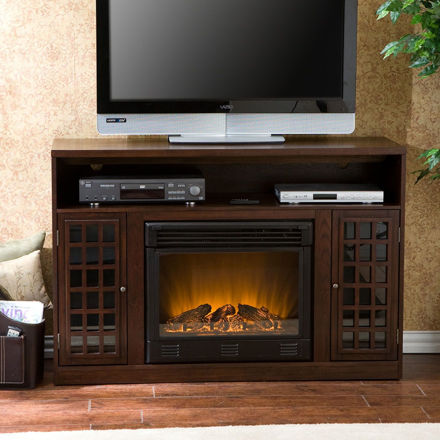 Build our TV stand around the free standing stove