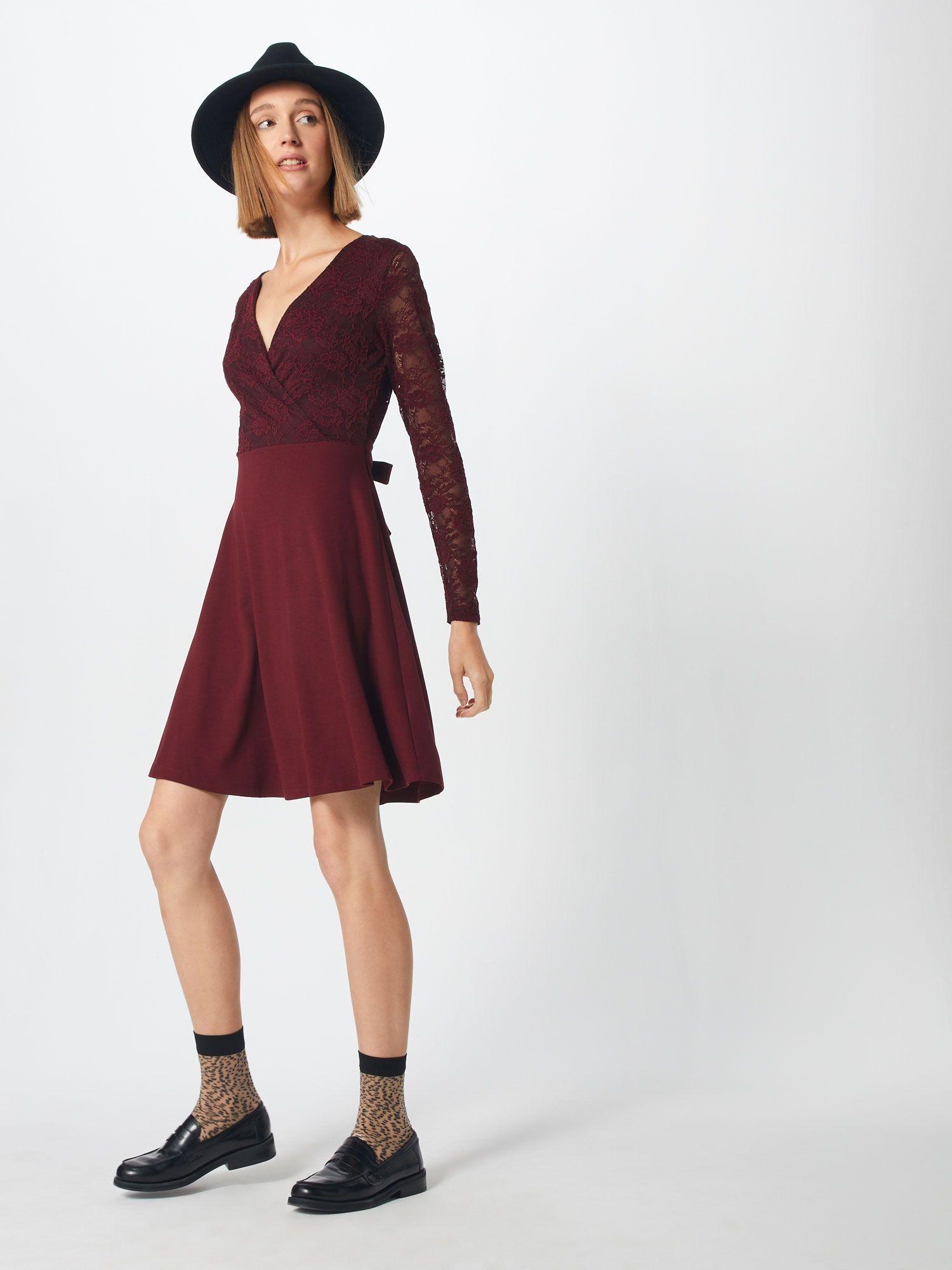 ABOUT YOU Kleid 'Olivia' Damen, Bordeaux, Größe 42 | Kleider