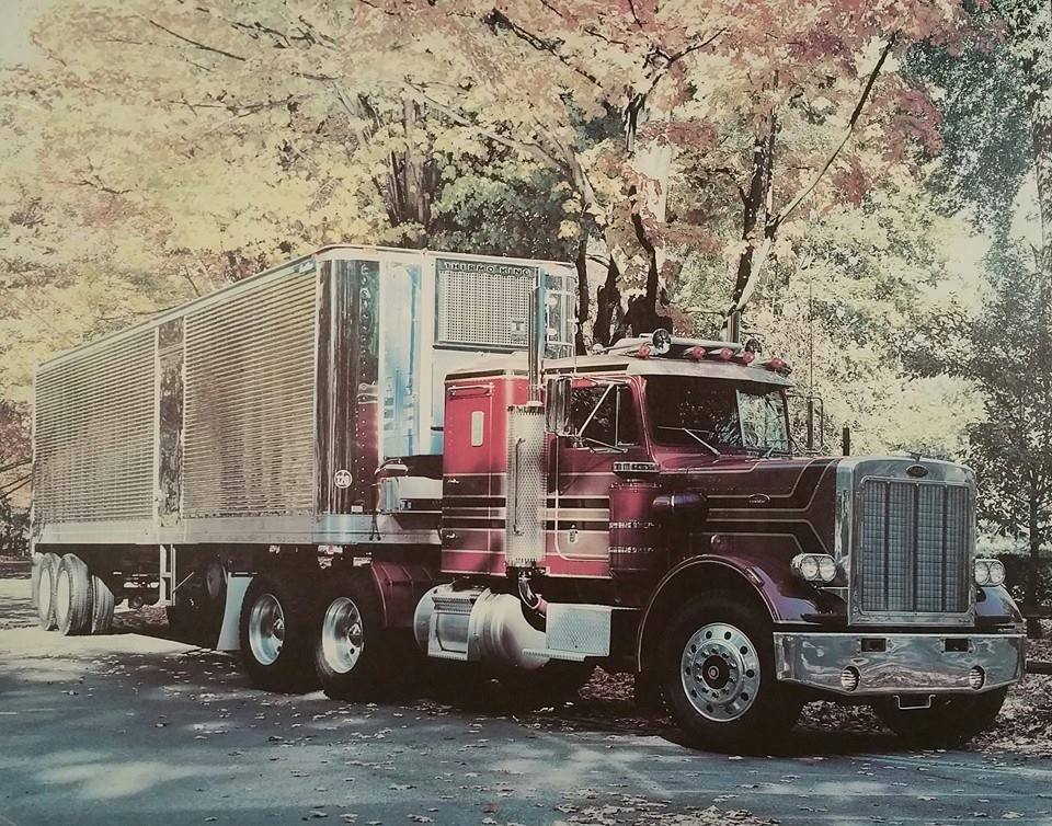 Peterbilt 359 Off Poster From The 70s With Images Model Truck