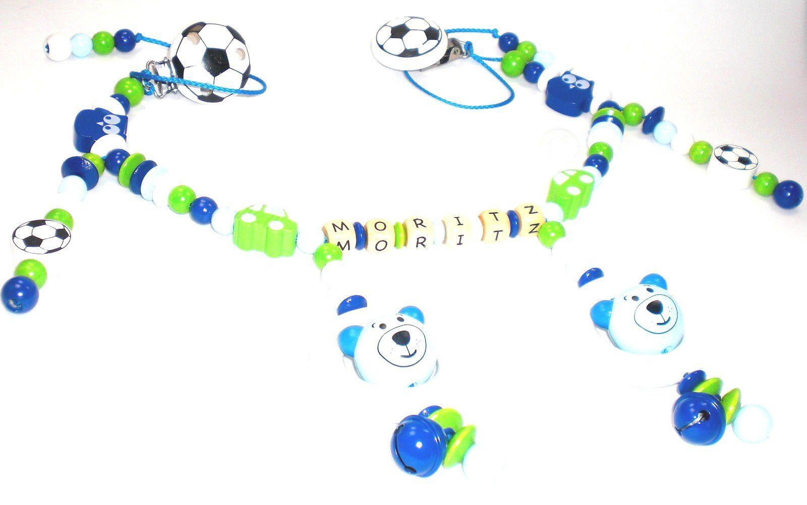 Geburt Kinderwagenkette f/ür M/ädchen mit Wunschnamen Geschenk zur Taufe Grau, Wei/ß - OHNE NAMEN -