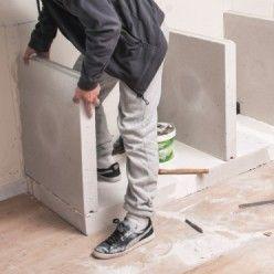 Utiliser du béton cellulaire pour construire un meuble de cuisine