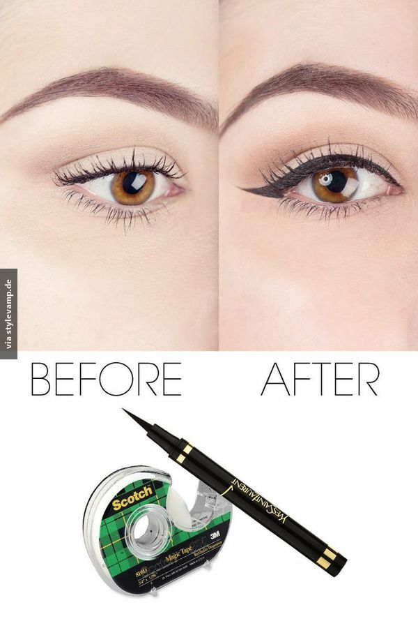 eyeliner trick make up pinterest makeup selbst. Black Bedroom Furniture Sets. Home Design Ideas