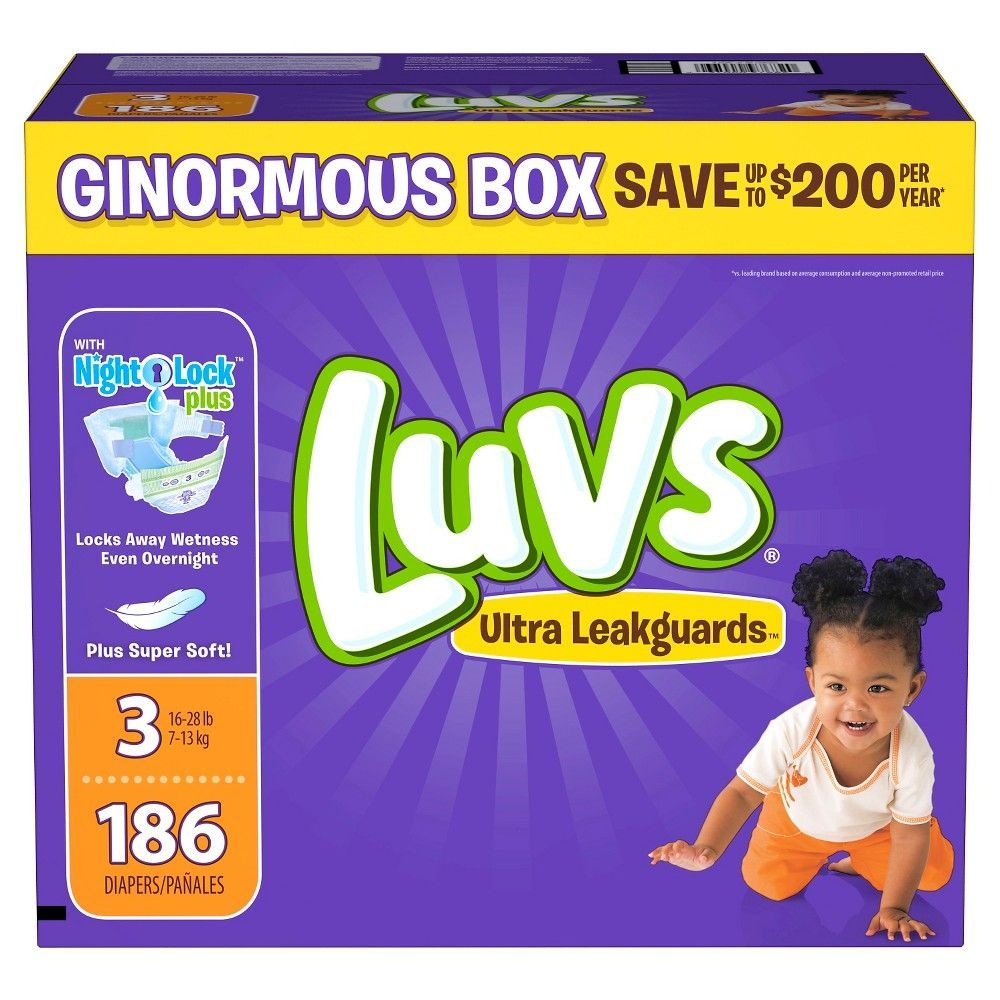 Luvs Ultra Leakguards Disposable Baby Diapers 228 Count One Month Supp Size 2