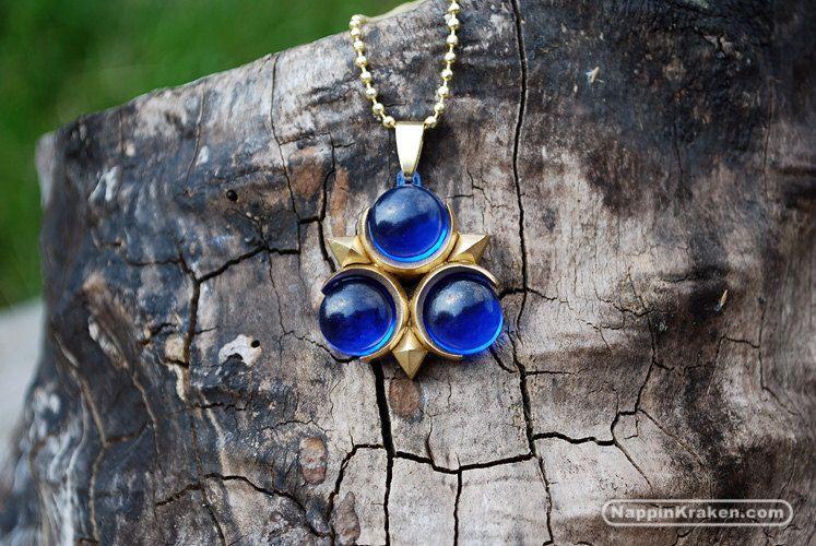 Zora's Sapphire Pendant Legend of Zelda Ocarina of Time by NappinKraken on Etsy https://www.etsy.com/uk/listing/104142568/zoras-sapphire-pendant-legend-of-zelda