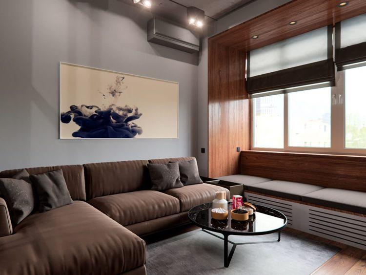 Beton In Interieur : Beton und holz in eleganter verbindung u ein harmonisches