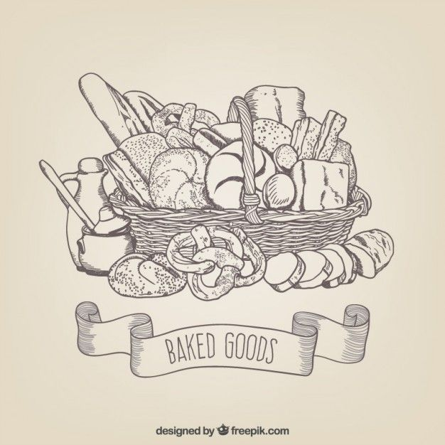 Drawings baked goods Free Vector