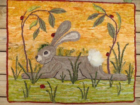 Resting Rabbit Rug Hooking Pattern Bunnies Pinterest Rug Beauteous Rug Hooking Patterns