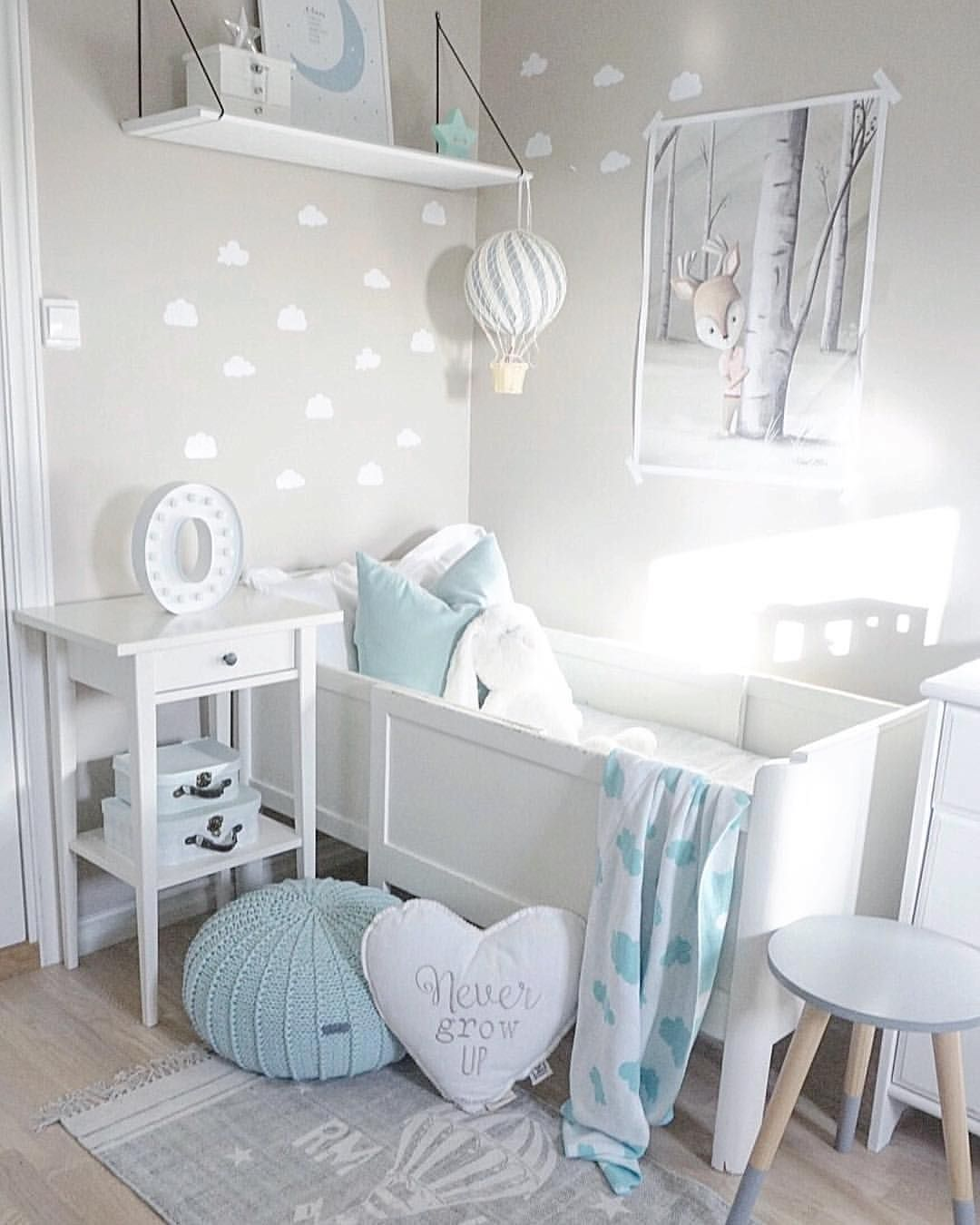 Inspiration From Instagram Light Grey And Blue Nursery Decor