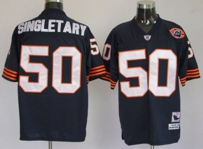 purchase cheap 0ed9e 45433 Chicago Bears #50 Mike Singletary Blue Throwback With Bear ...