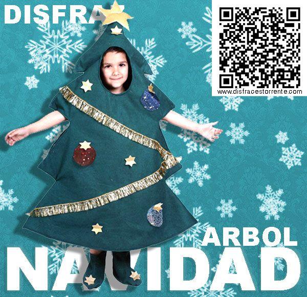 Disfraz divertido de arbol de navidad para ni os - Disfraz nino navidad ...
