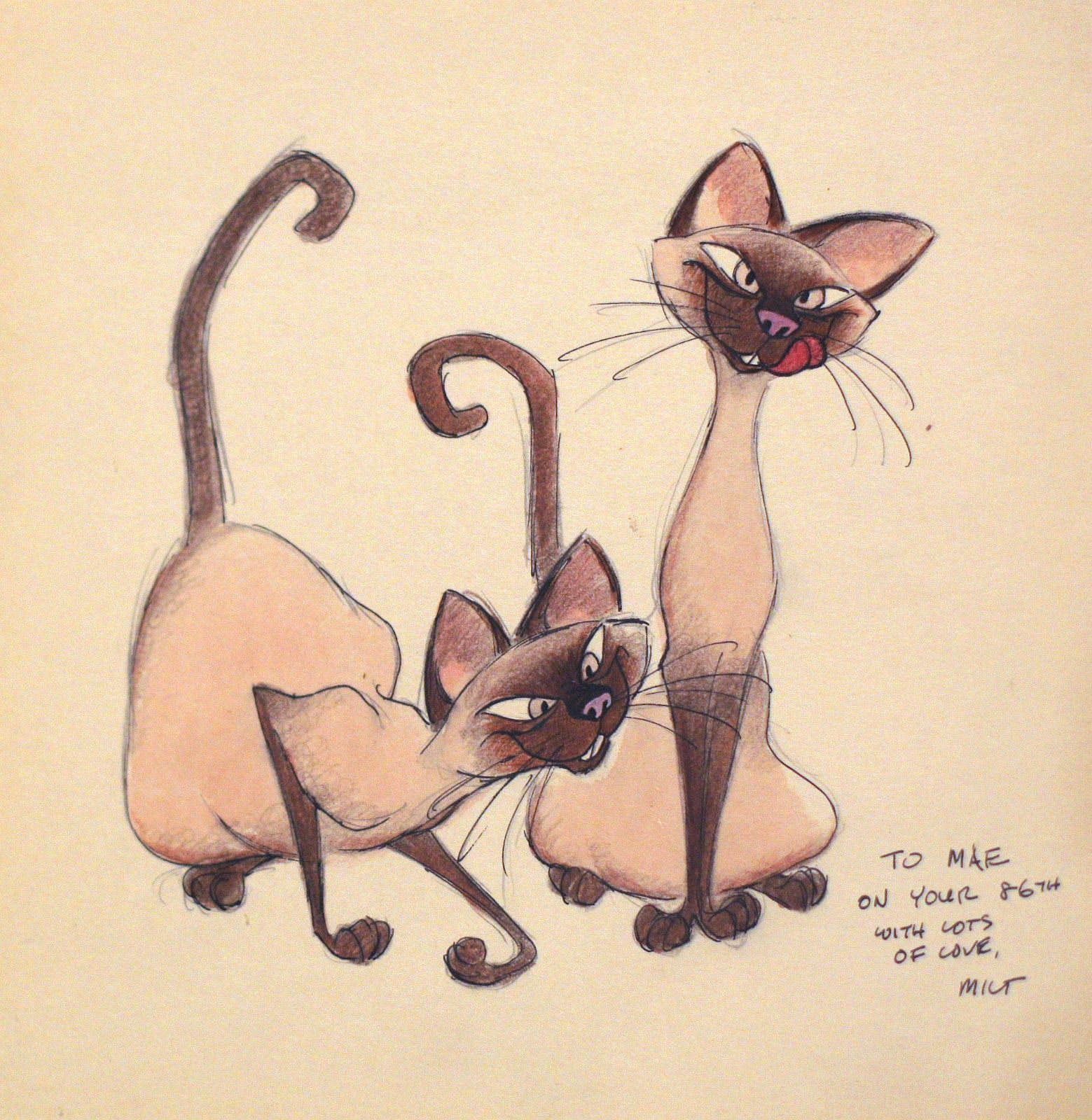 Si and Am Disney concept art, Cat art