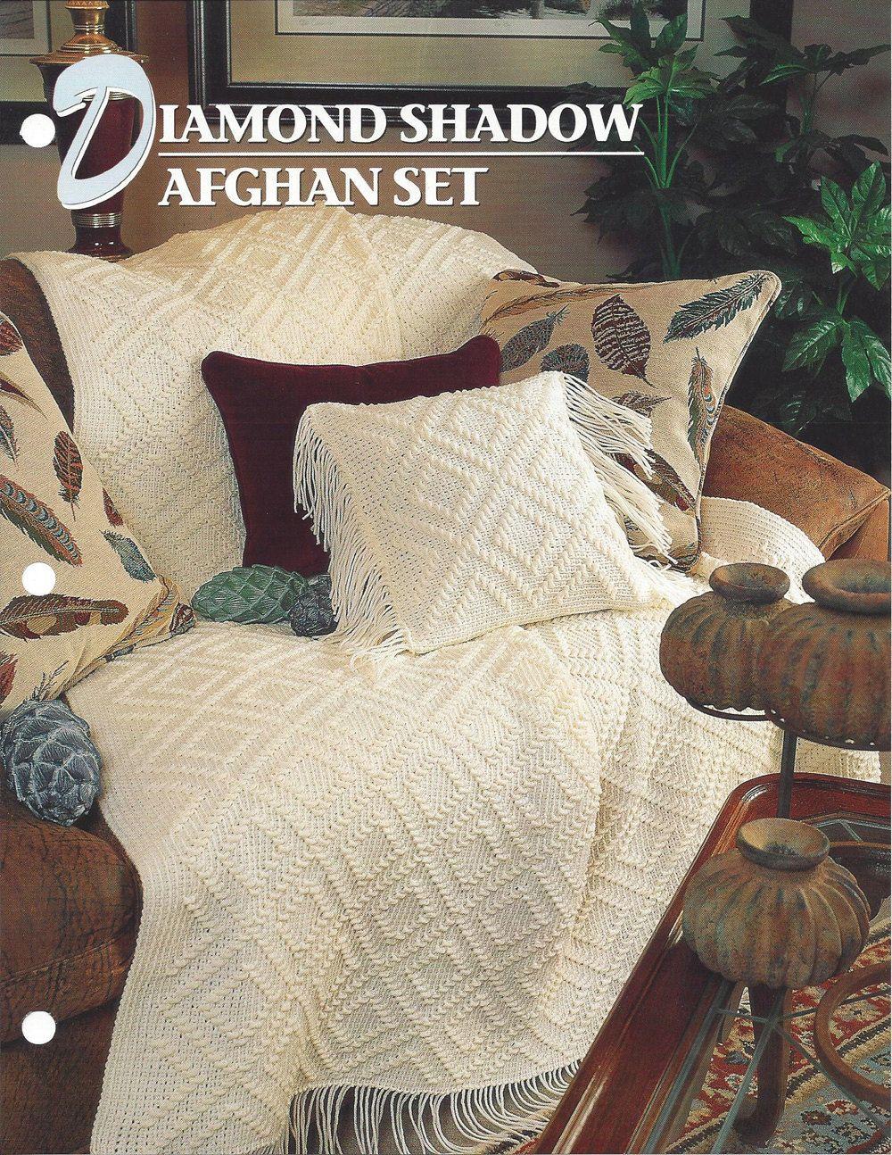 Diamond Shadow Afghan Set - Annie\'s Crochet Quilt & Afghan - Pattern ...
