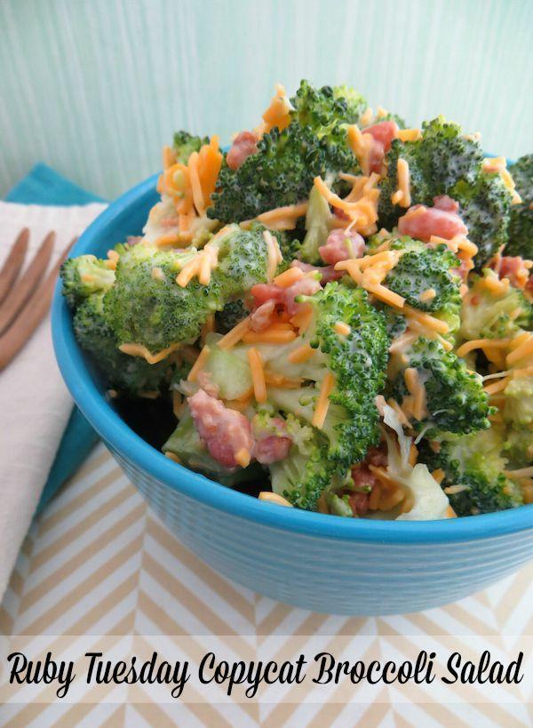 Broccoli Salad Recipe Ruby Tuesday S Copycat From Val S Kitchen Broccoli Salad Recipe Broccoli Salad Ruby Tuesday Recipes