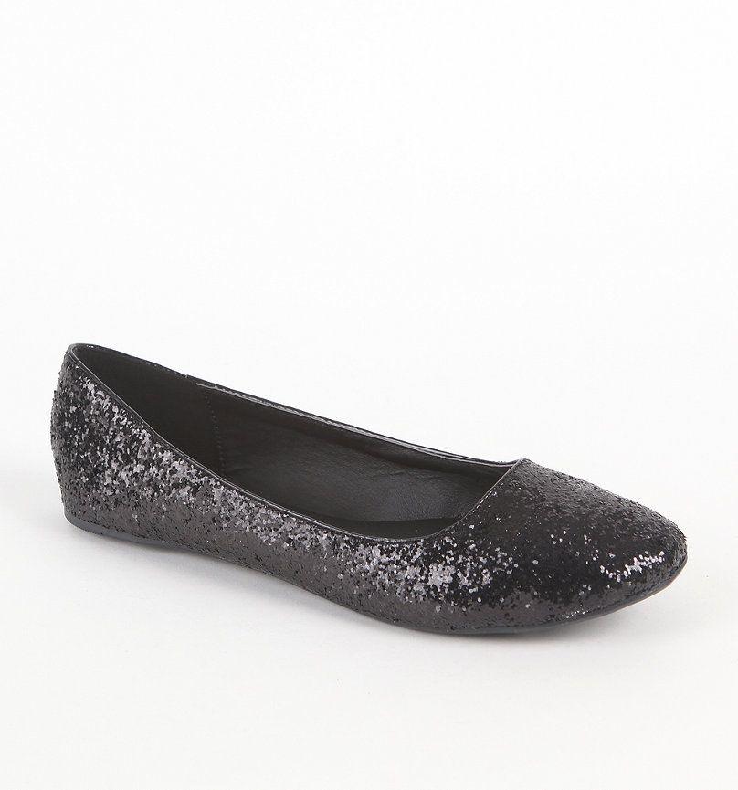 black glitter flatsa must for every