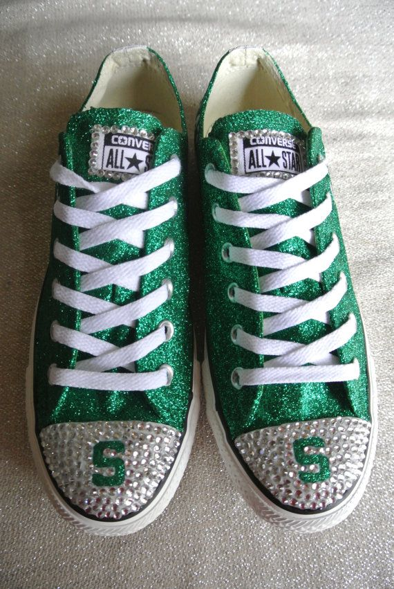 bb6fca400ee7a1 Custom Michigan State Converse by JCorreaCreations on Etsy