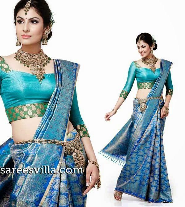 Paper silk blouse blouse for women saree blouse fancy blouse blue blouse beautifull blouse,designer blouse,indian blouse