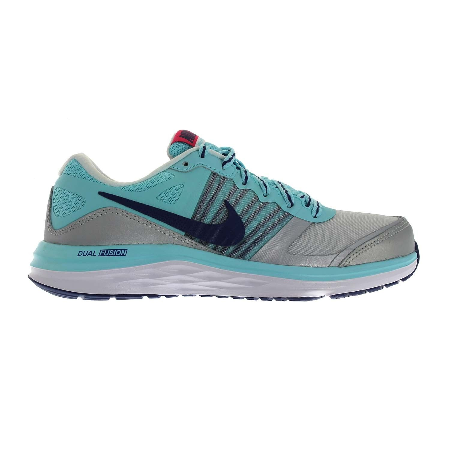 The Nike Dual Fusion X Running Shoe is made with dual-density cushioning  and a lightweight, breathable upper for impact protection and cool comfort  during ...