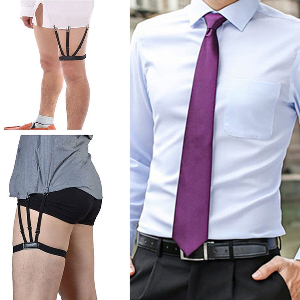 c07818f7a99  3.89 - 2Pcs Pair S Holders Hidden Suspenders - Keeping Your Shirt Tucked  In All Day Bl  ebay  Fashion