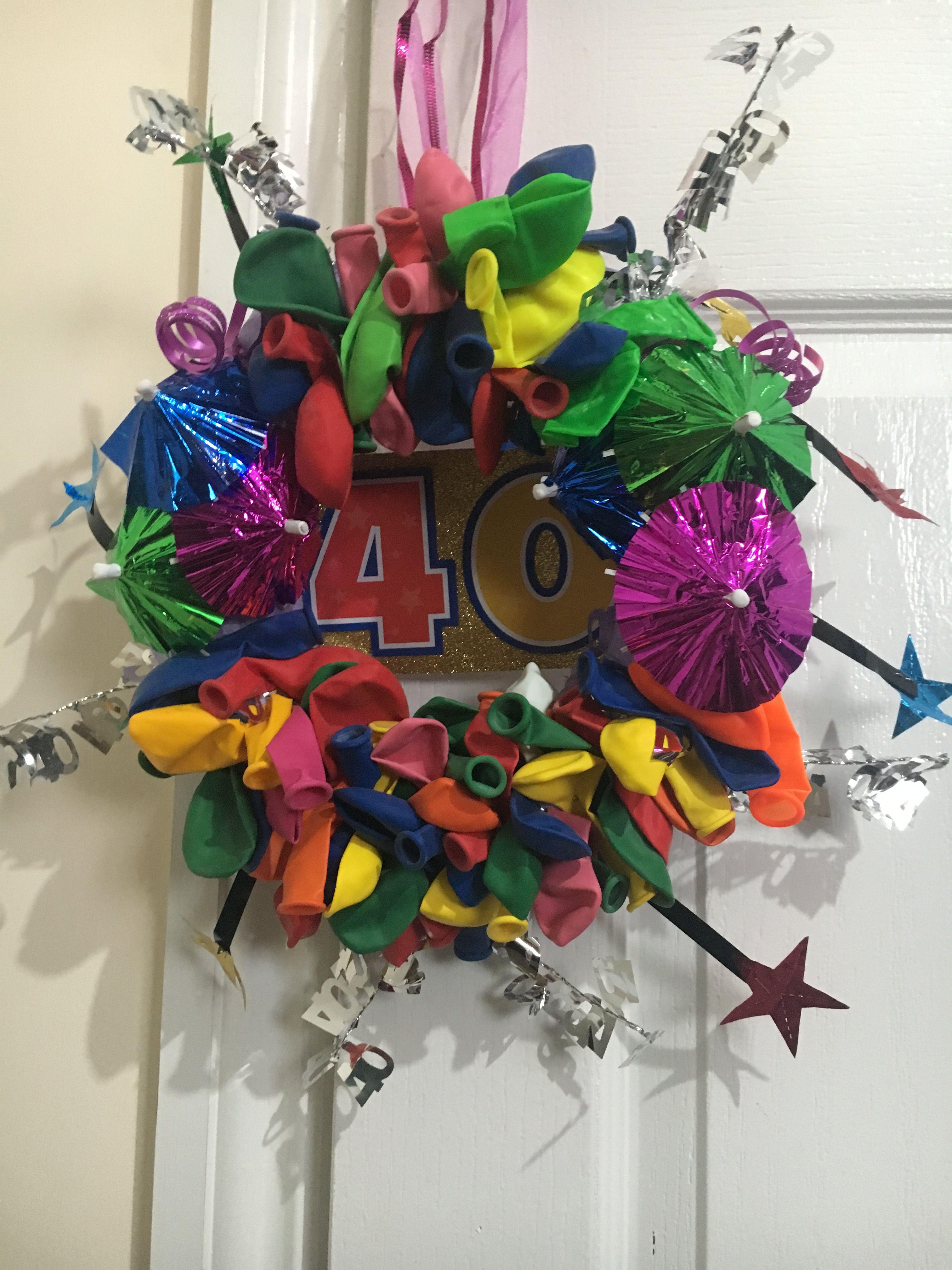 40th Birthday Wreath